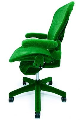 AstroTurf Herman Miller 2 Green AstroTurf Covered Aeron Chair by Herman Miller and Makoto Azuma.jpeg