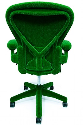 AstroTurf Herman Miller 3 Green AstroTurf Covered Aeron Chair by Herman Miller and Makoto Azuma.jpeg